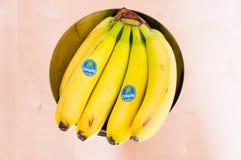 Chiquita bananer Arkivbild