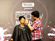 Chirag Bamboat session at beauty expo. Venue- Professional beauty expo,Mumbai Date- 6th october 2015 stock photography
