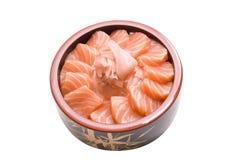 Chirashi saumoné photos stock