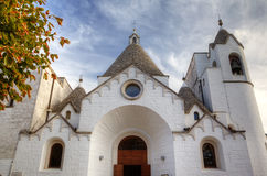 Chirch in Alberobello - Trulli village Royalty Free Stock Images