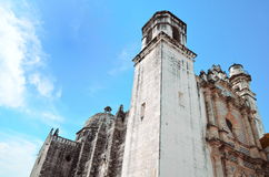 Chirch in Campeche City in Mexico Stock Photos