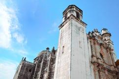 Chirch dans la ville de Campeche au Mexique Photos stock