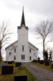 Chirch in Norway. Whight chirch in the north of  Norway Stock Images