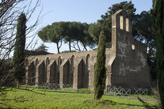 Chirch San Nicola a Capo di Bove. Ruins of a chirch situated alongside the Via Appia (Rome,Italy Stock Image