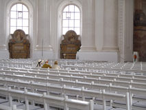 Chirch of St. Blasien. St. Blasien, germany - July 26, 2012: Chirch of St. Blasien, chairs in a row Royalty Free Stock Image