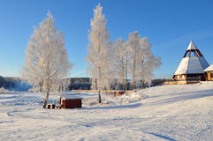 Chirch, in sweden, scandinavia. Chirch in winter in  the north of Scandinavia Stock Photography