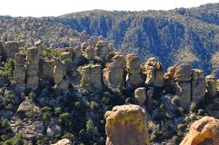 Balancing Rocks and Hoodoos of the Chiricahua mountains of the Chiricahua Apaches stock image