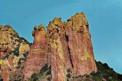 Chiricahua berg - Portal, Arizona Arkivbilder