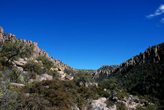 Chiricahua National Monument: the valley of rocks Royalty Free Stock Photo