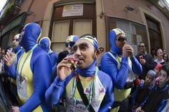Chirigota nel carnevale di Cadice, Spagna Fotografie Stock