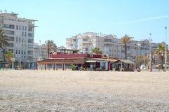 Chiringuito στην παραλία του Λα Misericordia Μάλαγα, Ισπανία στοκ φωτογραφία με δικαίωμα ελεύθερης χρήσης