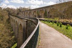 Chirk渡槽和高架桥 免版税图库摄影