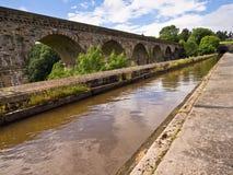 Chirk运河渡槽和高架桥 免版税库存图片
