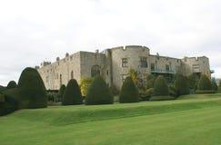 Chirk сад замка & фигурной стрижки кустов в Wrexham, Уэльсе, Англии, Европе Стоковые Фото