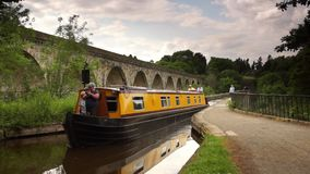 Chirk Aqueduct and Viaduct stock footage