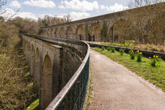Chirk Aqueduct and Viaduct Royalty Free Stock Photography