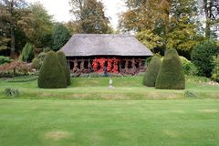 Chirk Castle Garden, Wales, England. Royalty Free Stock Images