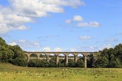 Chirk den järnväg viadukten Arkivbilder