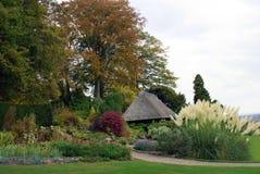 Chirk il giardino del castello in autunno fotografia stock