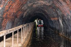Chirk tunnel on the LLangollen Canal royalty free stock photography