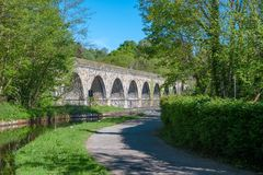 Chirk viaduct and aquaduct stock photography