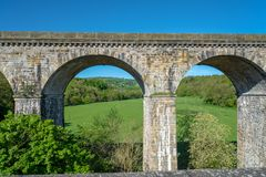 Chirk viaduct and aquaduct royalty free stock photo
