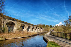 Chirk viaduct and aquaduct Royalty Free Stock Photos