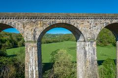 Chirk viaduct and aquaduct royalty free stock image