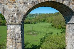 Chirk viaduct en aquaduct royalty-vrije stock fotografie