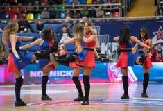 Chirliderka CSKA drużyna Y Parkhomenko obraz stock