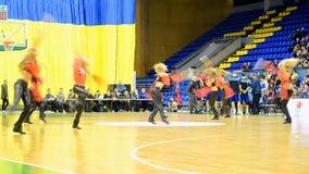 Chirliderka grupuje tana, F4 koszykówki Definitywny mistrzostwo, Kijów, Ukraina zbiory