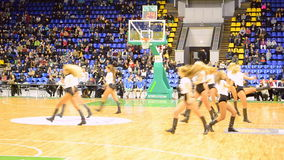 Chirliderka grupuje tana, F4 koszykówki Definitywny mistrzostwo, Kijów, Ukraina zbiory wideo