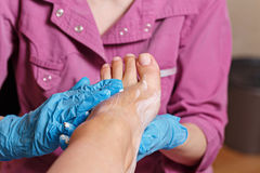 Chiropody Spa salon. Massage scrub. Royalty Free Stock Photo