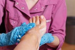 Chiropody Spa salon. Massage scrub. royalty free stock photo