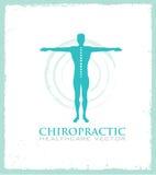 Chiropractic, μασάζ, πόνος στην πλάτη και εικονίδιο οστεοπάθειας Στοκ Εικόνες