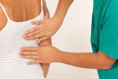 Chiropractic προσοχή Στοκ φωτογραφίες με δικαίωμα ελεύθερης χρήσης