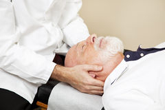Chiropractic Closeup Stock Photography