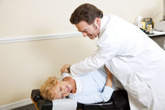 Chiropractic with Copyspace stock photo