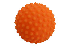 Chiropractic orange ball Royalty Free Stock Photos