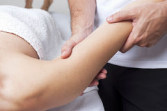 Chiropractic therapy Royalty Free Stock Image