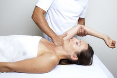 Chiropractic therapy Stock Image