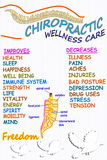 Chiropractic wellness care therapy related words Royalty Free Stock Photography