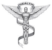 chiropracticsymbol vektor illustrationer