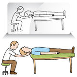 Chiropractor Neck Adjustment. An image of a chiropractor treating a patient Stock Photo