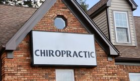 Chiropractor Office. Chiropractic is a form of alternative medicine mostly concerned with the diagnosis and treatment of mechanical disorders of the stock images