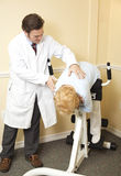 Chiropractor and Physical Therapy Stock Images