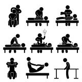 Chiropraktik-Physiotherapie-Akupunktur-Massage Lizenzfreie Stockfotos