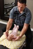 Chiroterapia pediatrica Fotografie Stock Libere da Diritti