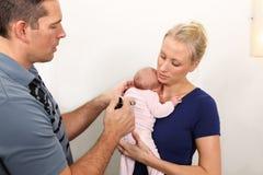 Chiroterapia pediatrica Fotografie Stock