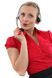 A chirpy receptionist Royalty Free Stock Images